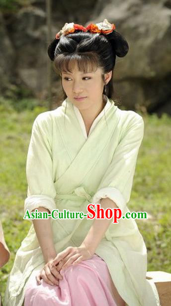 Ancient Chinese Spring and Autumn Period Young Lady Replica Costume for Women
