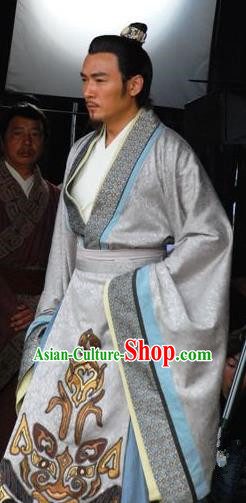 Ancient Chinese Han Dynasty General Founding Hero Han Xin Replica Costumes for Men