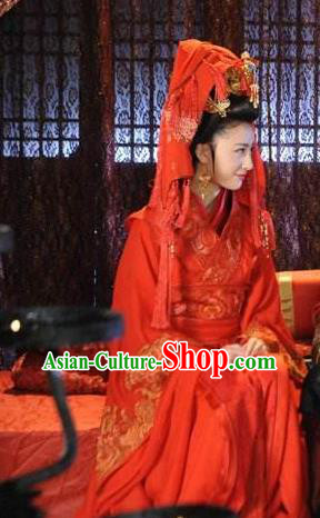 Ancient Chinese Spring and Autumn Period Imperial Concubine Xi Shi Hanfu Dress Wedding Replica Costume for Women