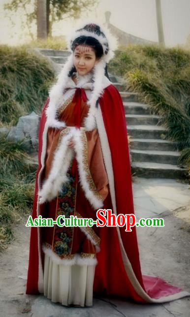 Traditional Ancient Chinese Han Dynasty Palace Maidservant Wang Zhaojun Hanfu Replica Costume for Women