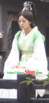 Ancient Chinese Qin Dynasty Palace Lady Hanfu Dress Replica Costume for Women