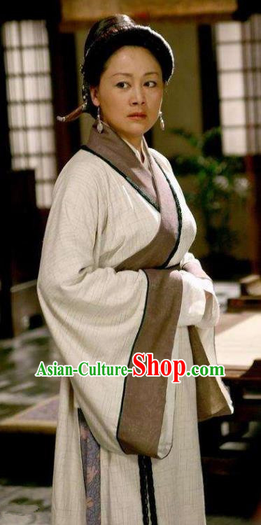 Chinese Ancient Han Dynasty Dowager Countess Jiao Hanfu Dress Replica Costume for Women