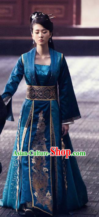 Chinese Nirvana in Fire Northern and Southern Dynasties Ancient Princess Consort Hanfu Dress Replica Costume for Women