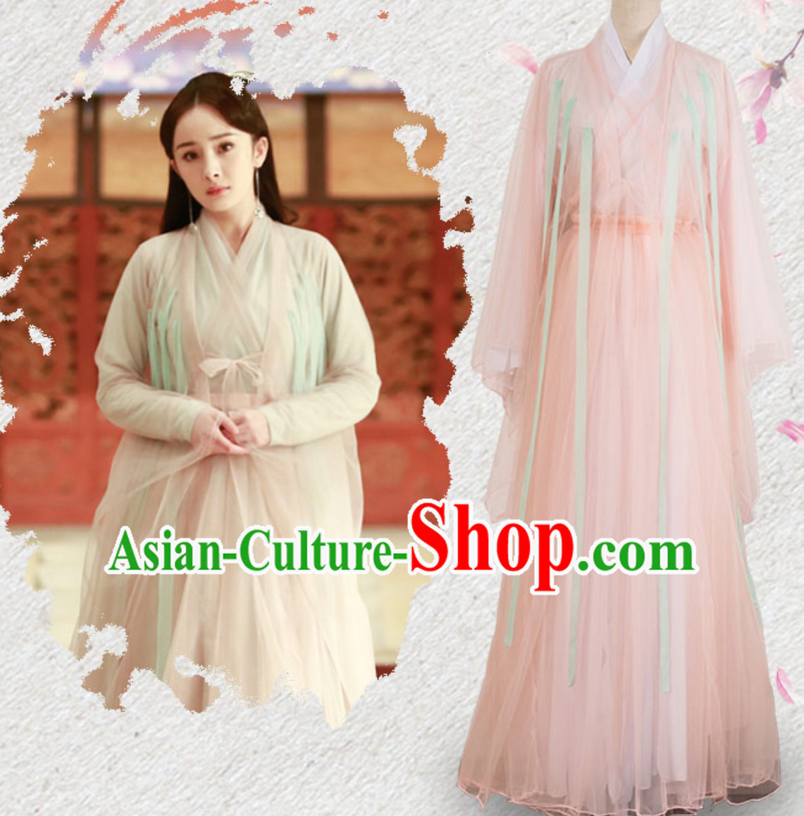 Chinese Han clothing Hanzhuang TV Drama Once Upon a Time Historical Dress for Women
