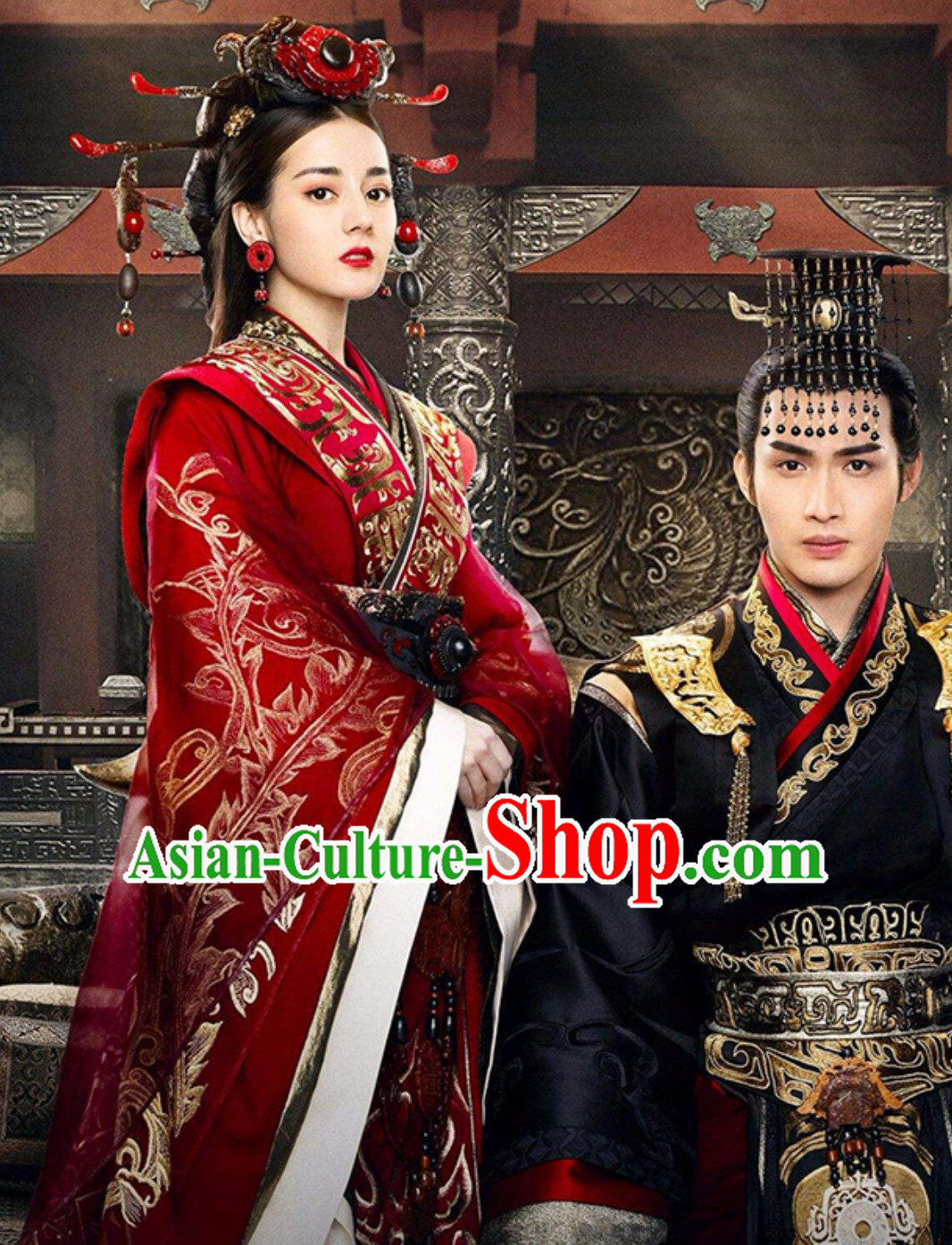 Ancient Chinese Imperial Wedding Clothing Imperial Robes Theater and Reenactment Costumes Hanzhuang Hanfu for Women