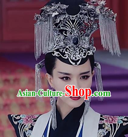 Traditional Chinese Ancient Queen Hair Accessories Hairpins Tassel Phoenix Coronet Complete Set for Women