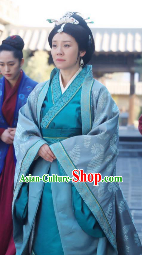 Chinese Ancient Nirvana in Fire Marquise Dowager Countess Laiyang Embroidered Replica Costume for Women