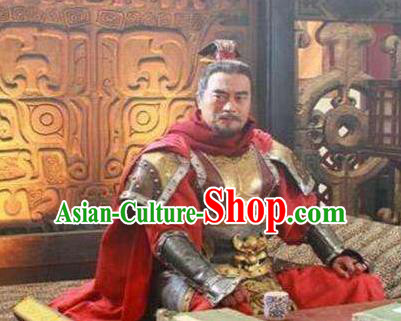 Chinese Ancient Tang Dynasty General Xue Wanche Replica Costume Helmet and Armour for Men
