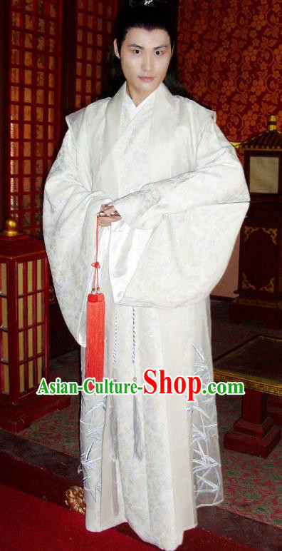 Chinese Ancient Tang Dynasty Nobility Childe Zhang Yizhi Replica Costume for Men