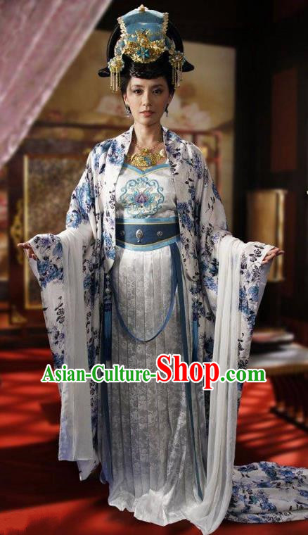 Ancient Chinese Tang Dynasty Princess Taiping Embroidered Dress Replica Costume for Women