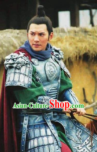 Chinese Ancient Tang Dynasty Military Officer General Qin Qiong Replica Costume for Men