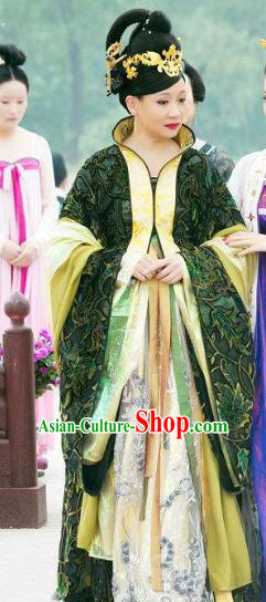 Traditional Chinese Ancient Tang Dynasty Empress Dowager Chao Embroidered Dress Replica Costume for Women
