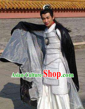 Chinese Tang Dynasty General Li Junxian Replica Costumes Helmet and Armour for Men