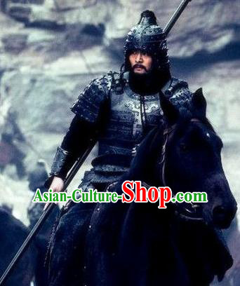 Chinese Ancient Three Kingdoms Period Wei Kingdom General Xia Houdun Replica Costume and Hats for Men