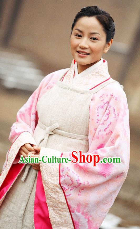 Chinese Ancient Warring States Time Female Doctor Hanfu Dress Replica Costume for Women