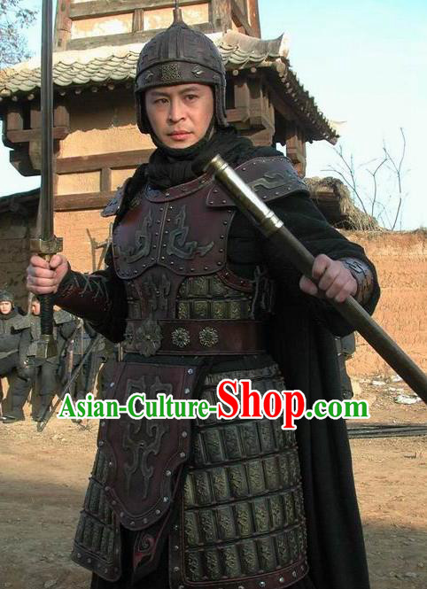Chinese Ancient Warring States Time General Fan Yuqi Replica Costume and Hats for Men