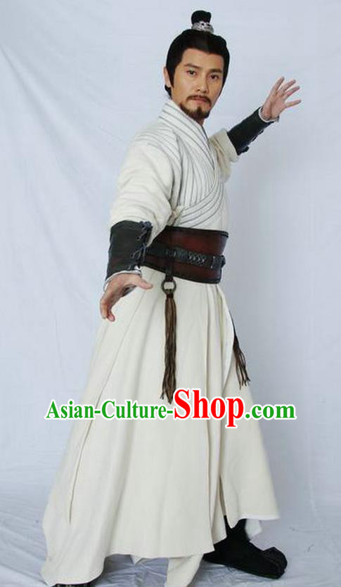 Chinese Ancient Qin Dynasty Swordsman Military Officer Meng Tian Replica Costume for Men