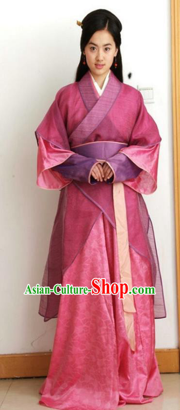 Chinese Ancient Costumes Qin Dynasty Young Lady Hanfu Dress Replica Costume for Women