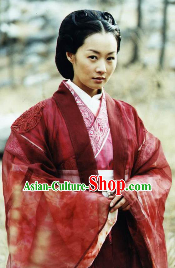 Chinese Ancient Warring States Time Young Lady Ye Xiaohu Hanfu Dress Replica Costume for Women