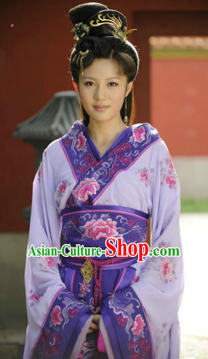 Traditional Chinese Warring States Period Yue Kingdom Beauty Xi Shi Hanfu Dress Embroidered Replica Costume for Women