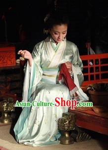 Traditional Chinese Ancient Chu Kingdom Concubine Xiang Hanfu Dress Embroidered Replica Costume for Women