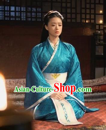 Traditional Chinese Ancient Chu Kingdom Concubine Ju Hanfu Dress Embroidered Replica Costume for Women