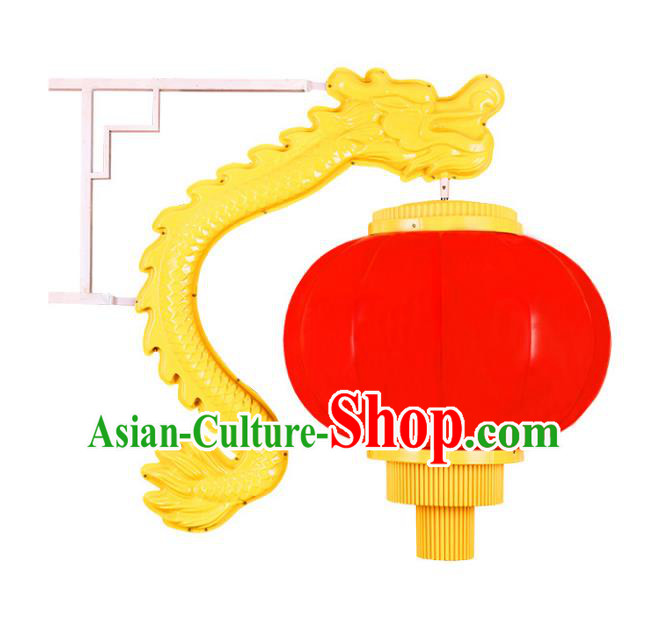 Traditional Handmade Chinese Dragon Head Lanterns Spring Festival Electric LED Lights Street Light Lamp Decoration