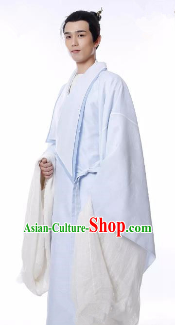 Untouchable Lovers Chinese Ancient Southern and Northern Dynasties Palace Musician Nobility Childe Replica Costume for Men
