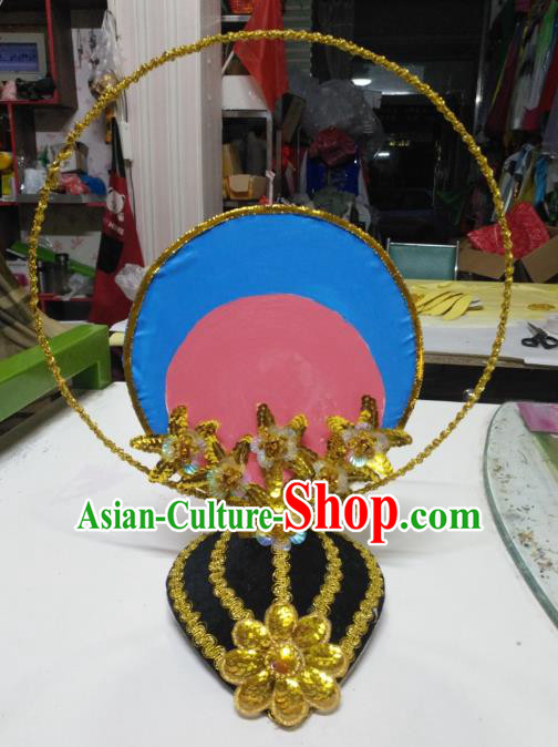 Chinese Classical Dance Hair Accessories Traditional Dunhuang Flying Apsaras Dance Headwear for Women