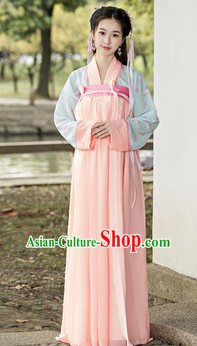 Traditional Chinese Ancient Court Maid Costume Tang Dynasty Palace Lady Hanfu Dress for Women