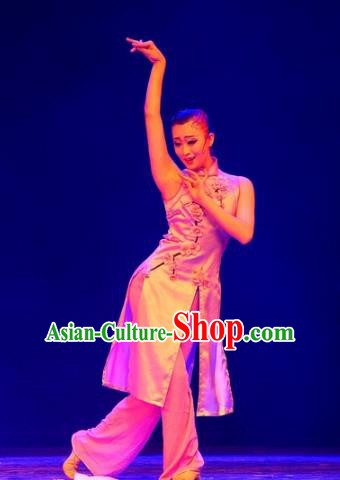 Traditional Chinese Classical Dance Costume, Folk Dance Yangko Dance Clothing for Women