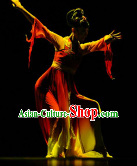 Traditional Chinese Classical Dance Costume, China Folk Dance Umbrella Dance Clothing for Women
