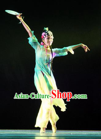 Chinese Traditional Folk Dance Costume Classical Dance Ethnic Dress, China Nationality Stage Performance Clothing for Women