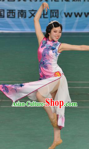 Chinese Traditional Stage Performance Costumes Folk Dance Classical Dance Dress for Women