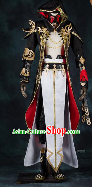 China Ancient Cosplay Swordsman Costumes Chinese Traditional General Knight-errant Clothing for Men