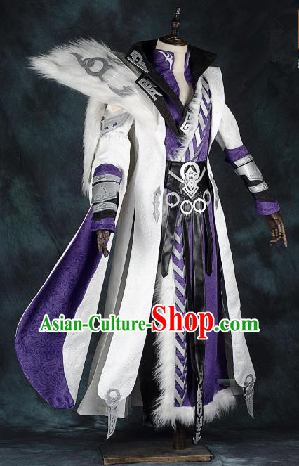 China Traditional Cosplay Prince Swordsman Costumes Chinese Ancient Kawaler Knight-errant Clothing for Men