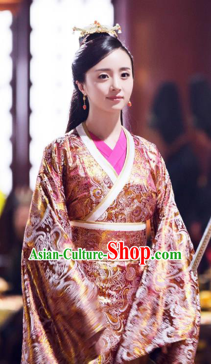 Chinese Ancient Palace Hanfu Dress Northern Zhou Dynasty Empress Historical Costume for Women
