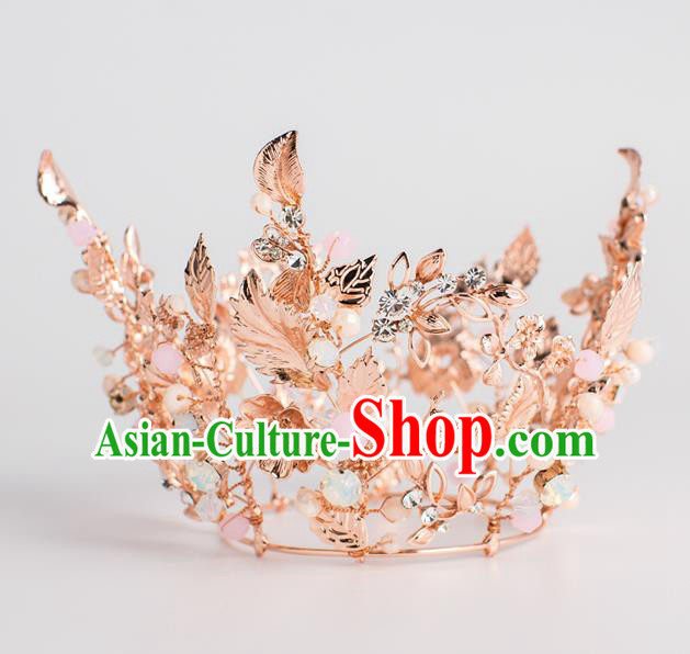 Baroque Bride Hair Accessories Classical Wedding Royal Crown Imperial Crown Headwear for Women