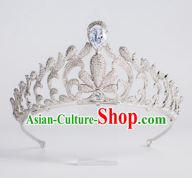 Baroque Princess Zircon Royal Crown Bride Classical Hair Accessories Wedding Imperial Crown for Women