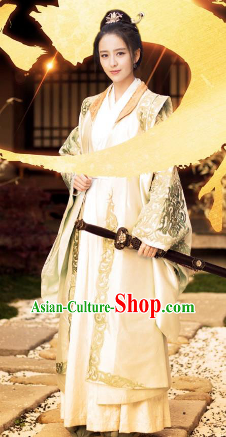 Chinese Ancient Nirvana in Fire General Countess Meng Qianxue Hanfu Dowager Replica Costume for Women