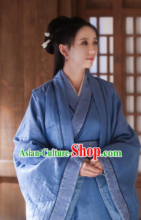 Chinese Ancient Dowager Hanfu Dress Television Drama Nirvana in Fire Female General Meng Qianxue Replica Costume for Women