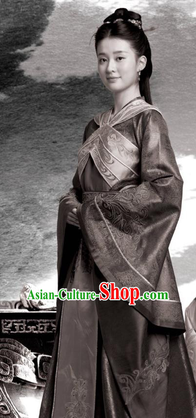 Chinese Ancient Palace Lady Television Drama Nirvana in Fire Princess Consort Xun Anru Replica Costume for Women