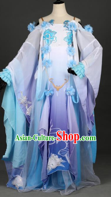 Chinese Ancient Swordsman Costume Cosplay Female Knight-errant Dress Hanfu Clothing for Women