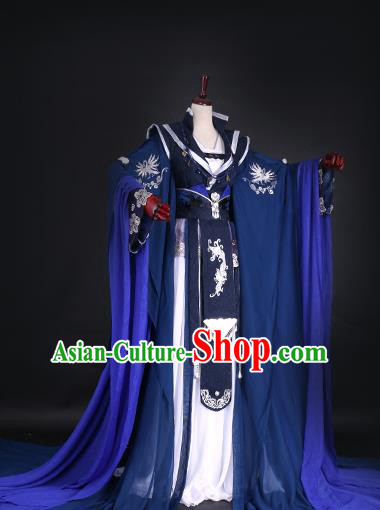 Chinese Ancient Queen Hanfu Dress Han Dynasty Imperial Empress Tailing Embroidered Costume for Women