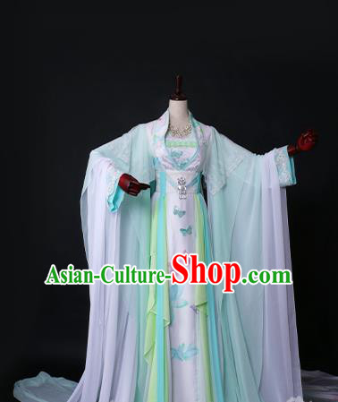 Chinese Ancient Palace Princess Hanfu Dress Tang Dynasty Imperial Empress Embroidered Costume for Women