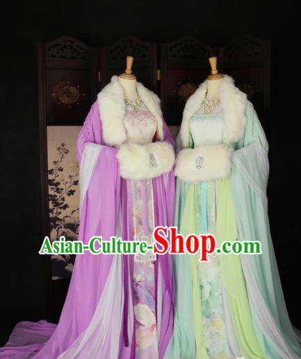 Chinese Ancient Cosplay Imperial Consort Hanfu Dress Tang Dynasty Palace Lady Embroidered Costume for Women