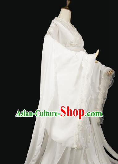 Chinese Ancient Cosplay Princess Consort White Hanfu Dress Han Dynasty Palace Lady Costume for Women