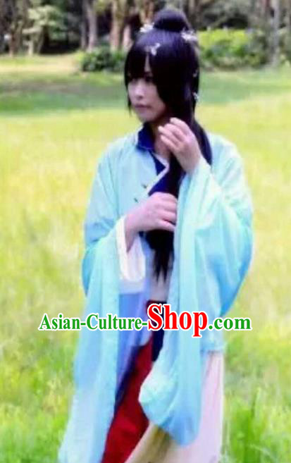 Chinese Ancient Knight-errant Embroidered Costume Swordsman Taoist Clothing for Men