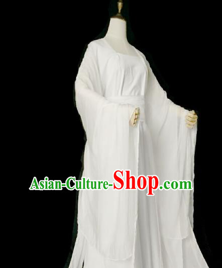 Chinese Ancient Cosplay Princess White Hanfu Dress Tang Dynasty Palace Lady Costume for Women