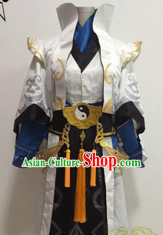 Chinese Ancient Knight-errant Embroidered Taoist Costume Swordsman Clothing for Men